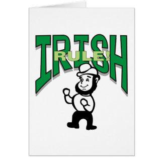 Irländare härskar T-tröjagåvan Hälsningskort