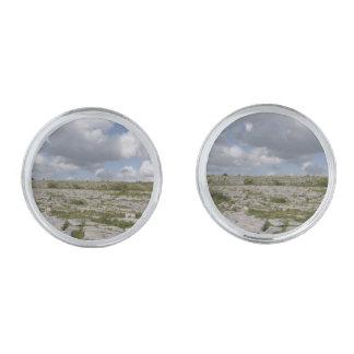Irländare landskap manschettknappar silverpläterade manschetterknappar