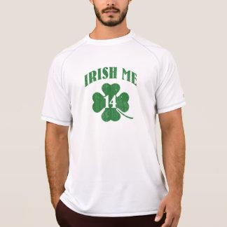 Irländare mig, lyckligt mig shamrock tee shirt