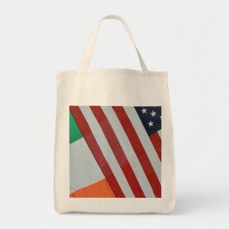 Irländare och US-flaggor Mat Tygkasse