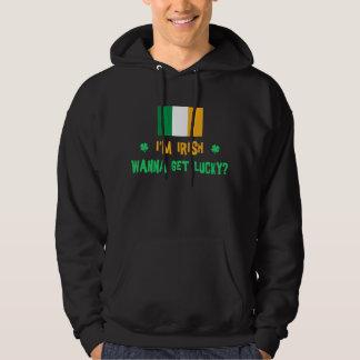 Irländare önskar att få lycklig sweatshirt med luva