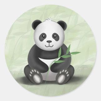 Irländare pandaen - klistermärkear runt klistermärke