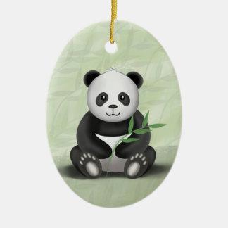 Irländare pandaen - prydnad julgransprydnad keramik