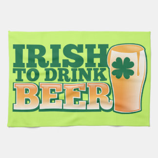 Irländare som dricker ÖL! Kökshandduk