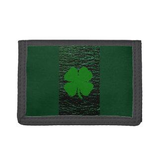 Irländare utformad TriFold nylonplånbok för grön