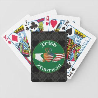 Irländsk amerikanCladdagh design som leker kort Spelkort