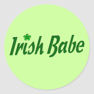Irländsk Babe Runt Klistermärke