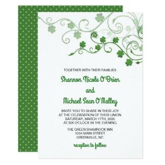 Irländsk bröllopinbjudan för klöver 12,7 x 17,8 cm inbjudningskort