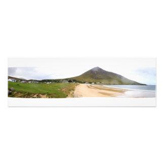 Irländsk Costal bergTown Konstfoto