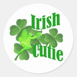 Irländsk cutie runt klistermärke