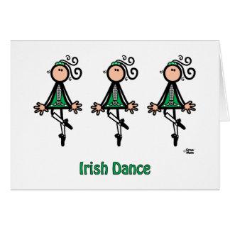 Irländsk dans hälsningskort