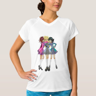 Irländsk dansaktivbära tee shirts