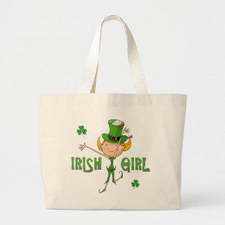 Irländsk flagga för flickatrollhatt & jumbo tygkasse