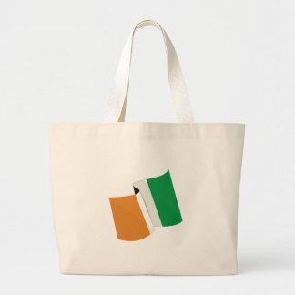 Irländsk flagga tote bags
