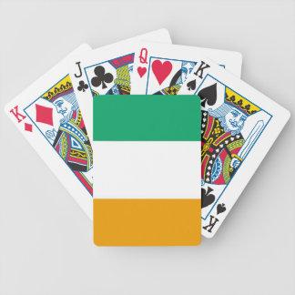 """""""Irländsk flagga"""" som leker kort Spelkort"""