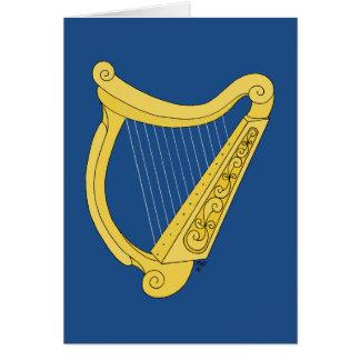 Irländsk harpa hälsningskort