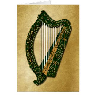 Irländsk harpa & välsignelse - 1 kort