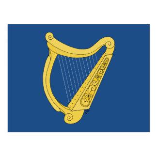 Irländsk harpa vykort
