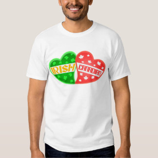 Irländsk kanadensisk Sts Patrick T-tröja för T Shirt