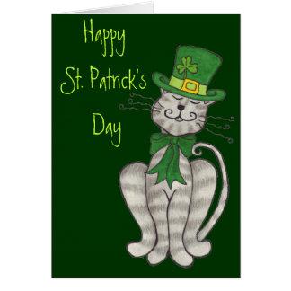 Irländsk kattunge - lyckligt Sts Patrick dagkort Hälsningskort