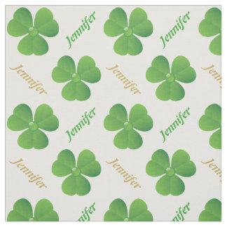 Irländsk klöver & känd Sts Patrick dagpersonlig Tyg