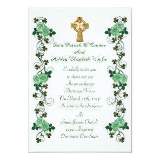 Irländsk kor för bröllopinbjudanCeltic 12,7 X 17,8 Cm Inbjudningskort