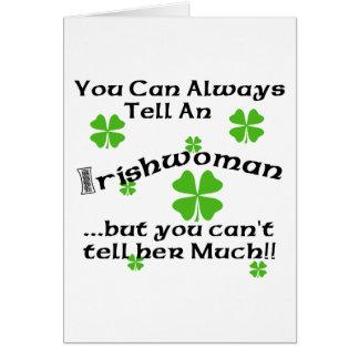 Irländsk kvinna - du kan alltid berätta… hälsningskort