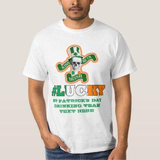 Irländsk lycklig st patricks day tee shirts