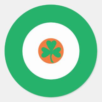 Irländsk modrundaklistermärke 3 runt klistermärke