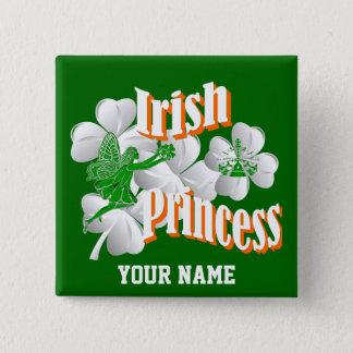 Irländsk princess för personlig med fen standard kanpp fyrkantig 5.1 cm