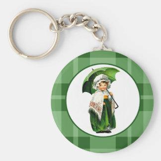 Irländsk Princess. Gåva Keychain för St Patrick ´s Rund Nyckelring