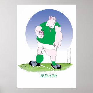 irländsk rugbyspelare, tony fernandes poster