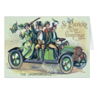Irländsk Shamrock för bil för Hälsningskort