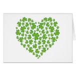 Irländsk Shamrockhjärta Hälsnings Kort