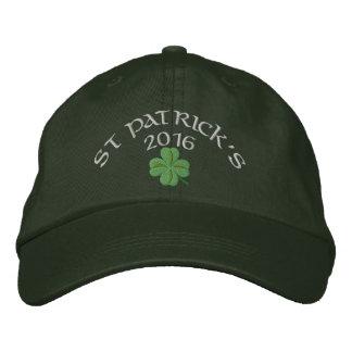 Irländsk shamrockst patrick's day broderad keps
