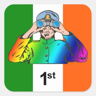 Irländsk sjöman fyrkantigt klistermärke