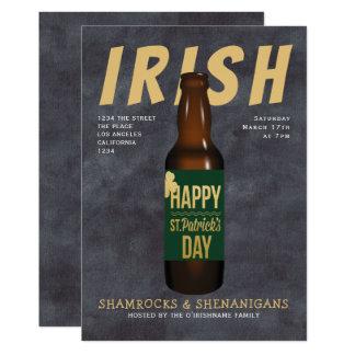 Irländsk ståhej för st patricks dayölparty 12,7 x 17,8 cm inbjudningskort