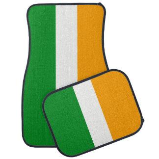 Irländsk Tricolor flagga för Irland ROI Bilmatta