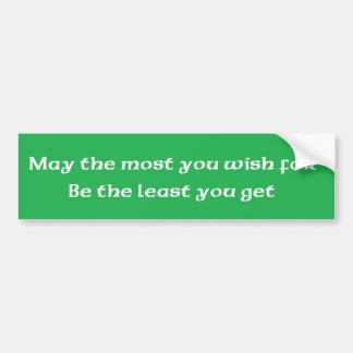 """Irländsk välsignelse """"maj mest som du önskar för """" bildekal"""