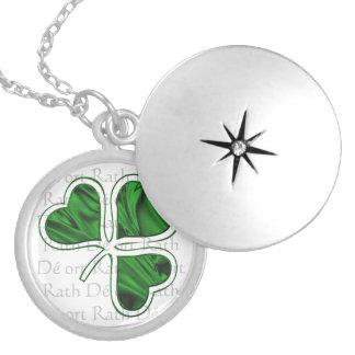 Irländsk välsignelse silverpläterat halsband