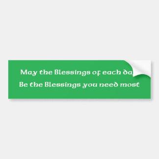 """Irländsk välsignelse """"välsignelserna av varje dag  bildekal"""