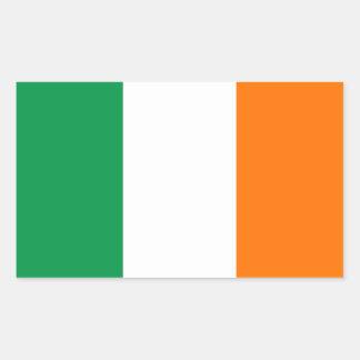 Irländska flaggaklistermärkear rektangulärt klistermärke