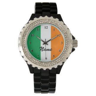 Irländska flaggaklockor   Personalizable med namn Armbandsur