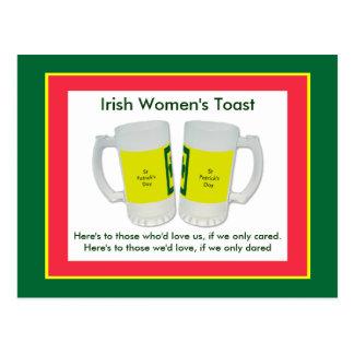 Irländska kvinna rostat bröd MUSEET Zazzle Vykort