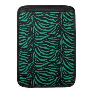 Irländskt djurt tryck för för sebra~-Kelly grönt MacBook Sleeves