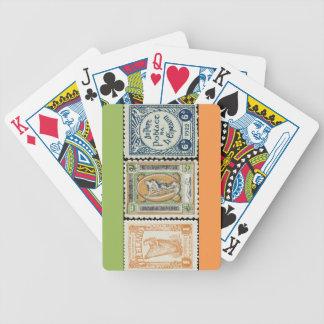 Irländskt frimärke som leker kort spelkort