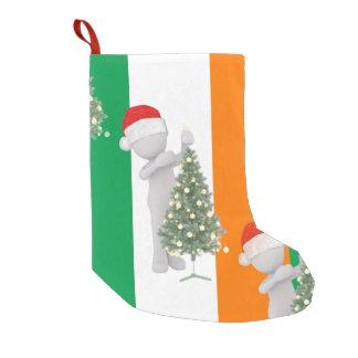 irländskt lagerföra för juljulafton small christmas stocking