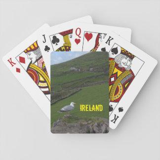 Irländskt landskap Irland som leker kort Kortlek
