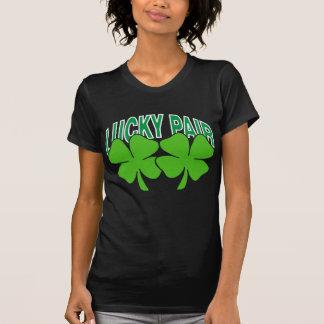 Irländskt lyckligt parar stygga kvinnor t shirts