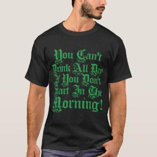 Irländskt party som dricker humor t shirt